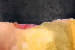"Sacred Bargain - collage, acrylic paint  8x8"""