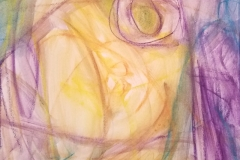 """Gauging the Momentum - Water-soluble crayon 10x10"""""""