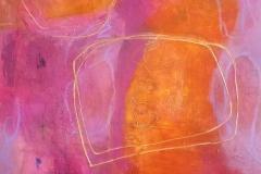 "Making Its Presence Felt - Acrylic paint, collage 16x16"""