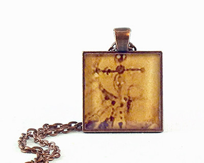Delicate Cross resin pendant