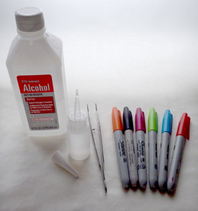 DIY alcohol ink supplies