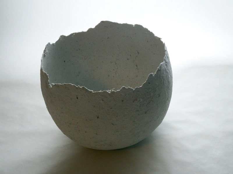 Papier maché clay balloon bowl