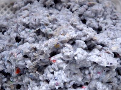 paper pulp close-up