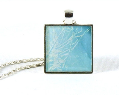 After the Snowfall handmade one-of-a-kind resin pendant