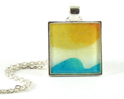 Go with the Flow handmade one-of-a-kind resin pendant