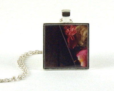 Rose Petals handmade one-of-a-kind resin pendant