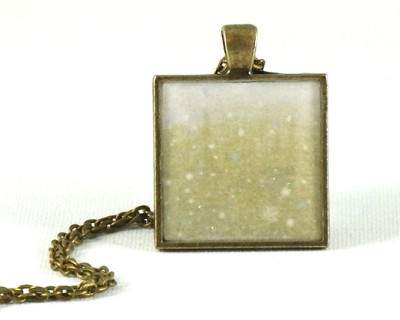 Winter Glitter handmade one-of-a-kind resin pendant