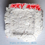 Krylon UV-Resistant spray on papier maché clay